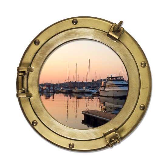 Porthole-SunsetDockedBoat.jpg
