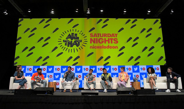 Josh moderates the ALL THAT panel at VidCon 2019 with the new cast.