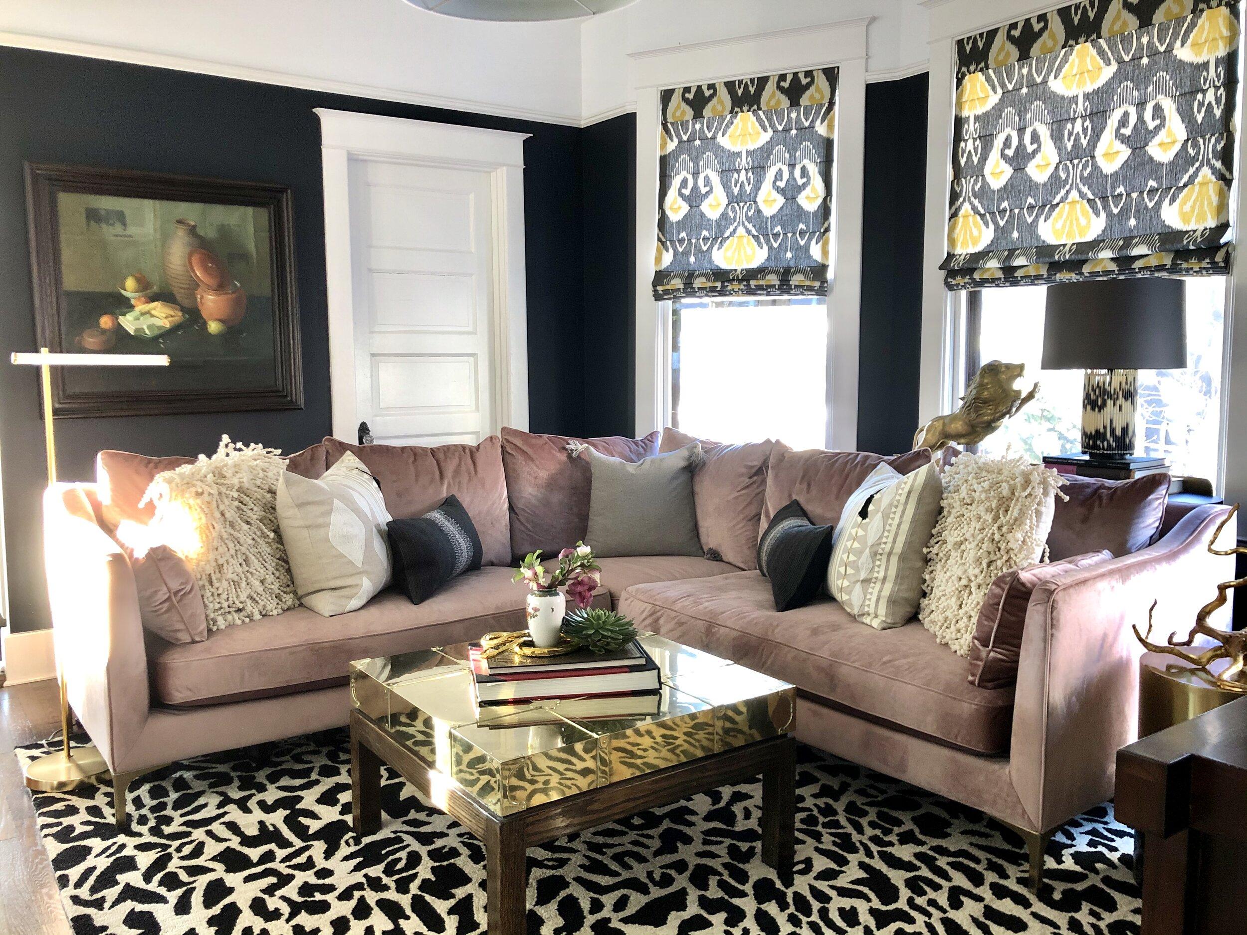 Living Room Decor Ideas Blush Pink Sofa Corvus Design House