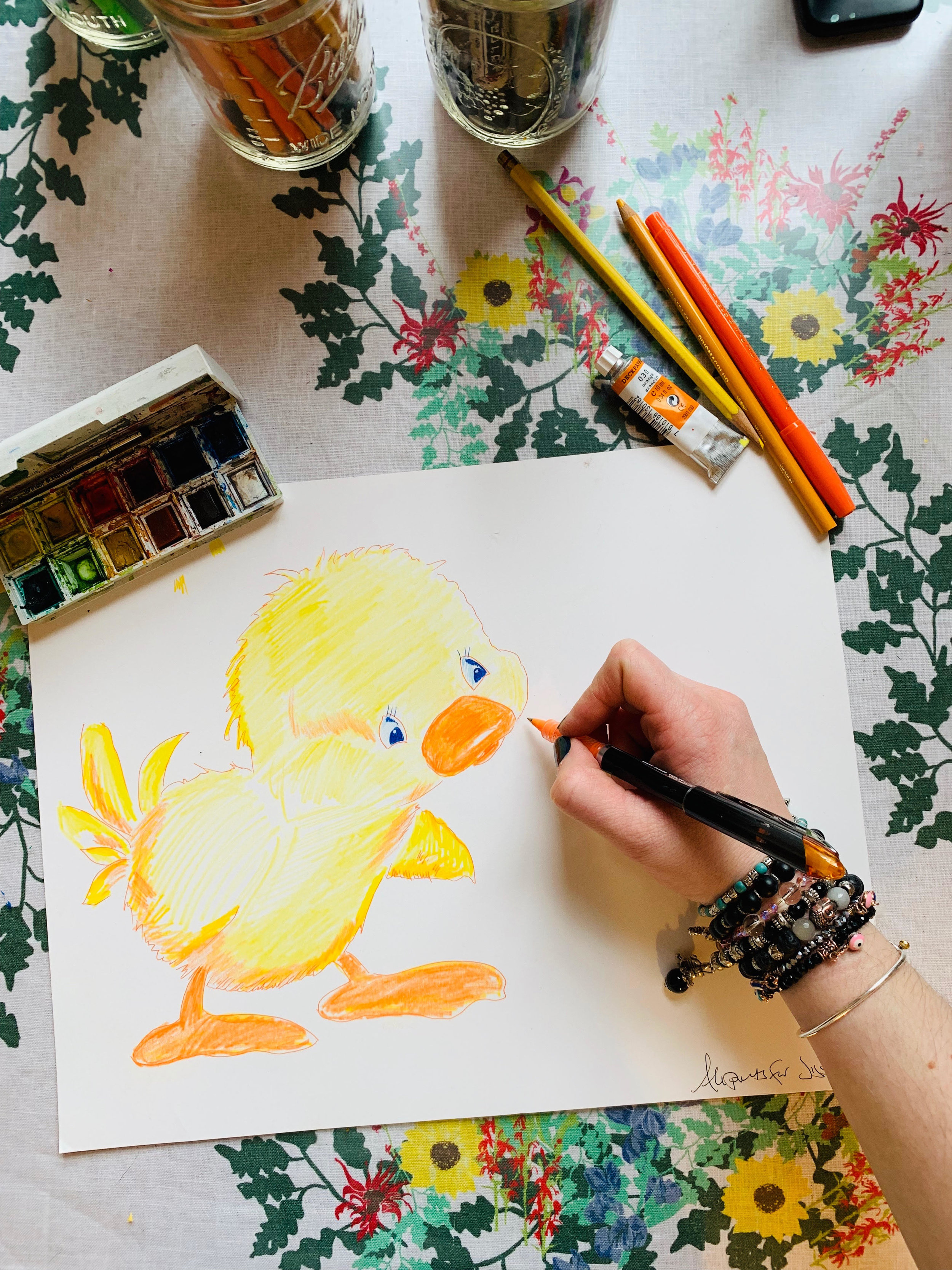 Giggle ducky drawing