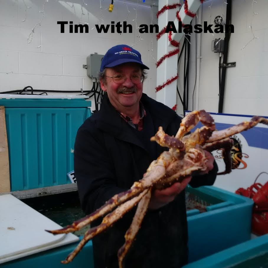 Tim wrangling a Russian King crab