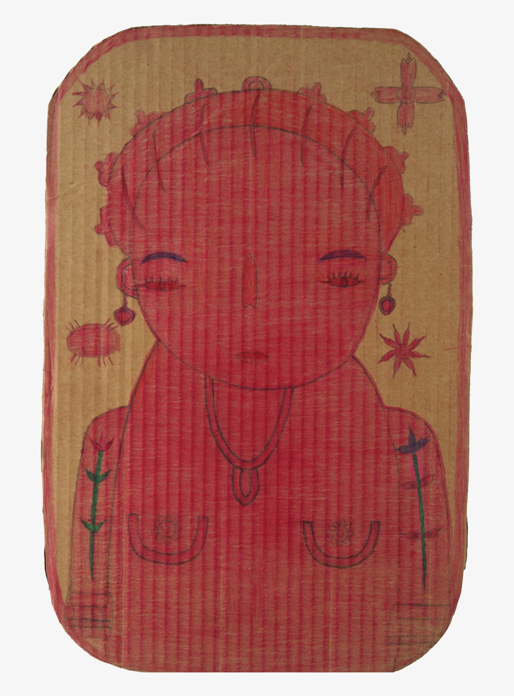 Untitled (7) Pencil crayon on cardboard 30x45cm