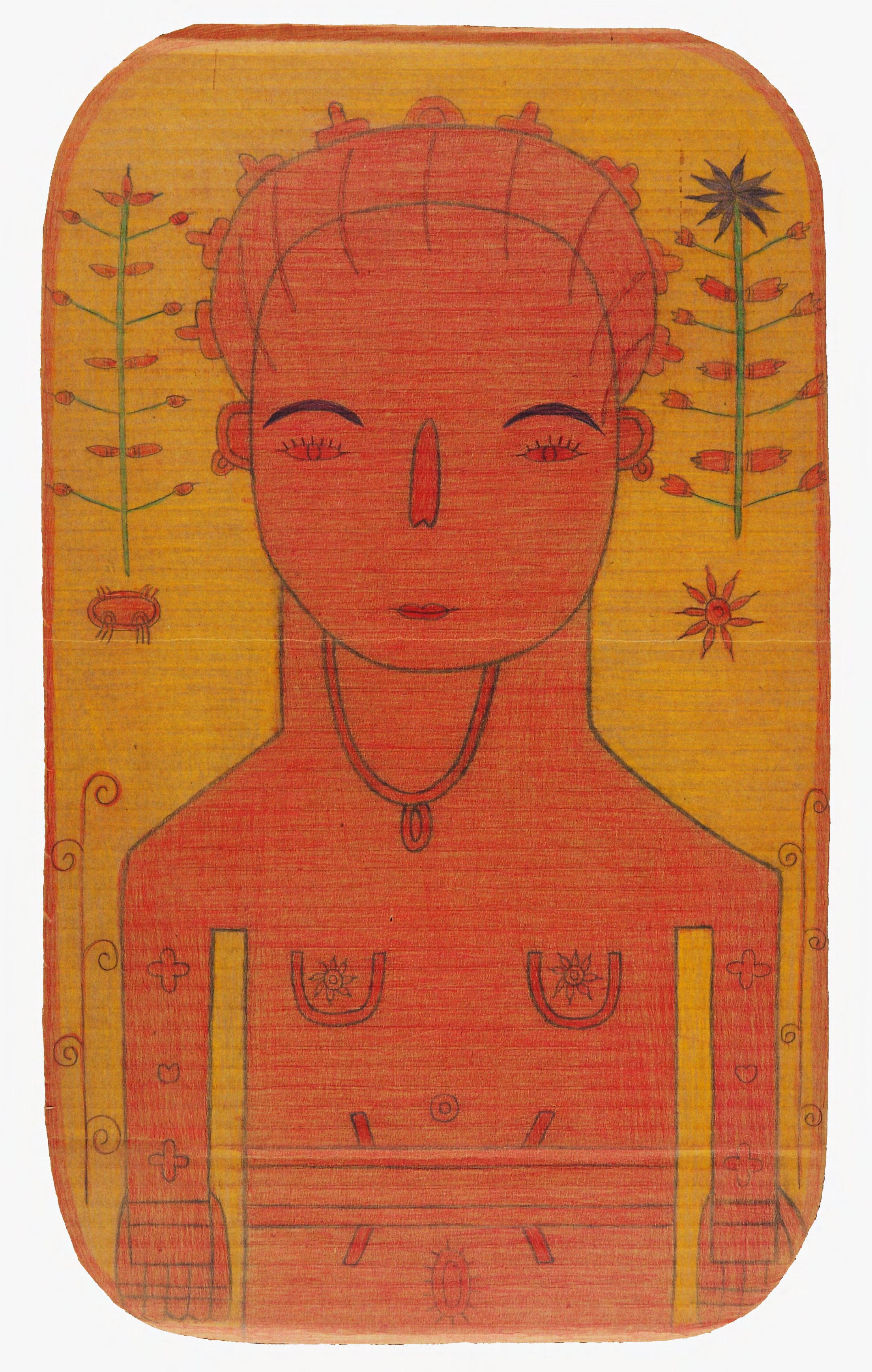 Untitled (26) Pencil crayon on cardboard 34x57cm
