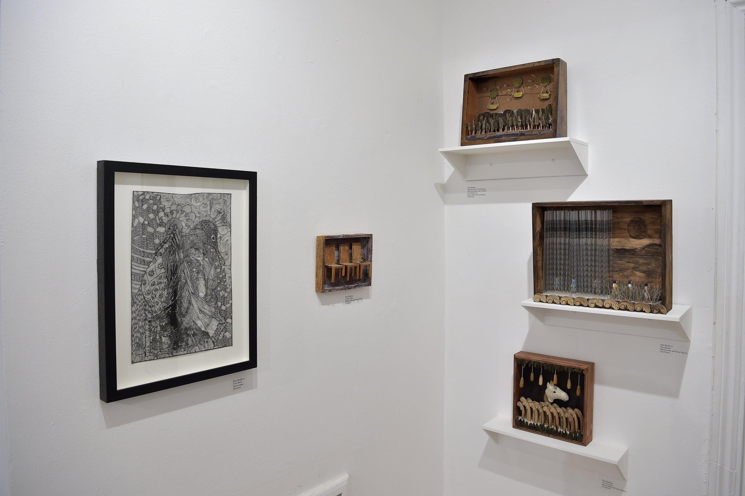 Installation shots of Kate Bradbury exhibition Photo by Andrew Hood