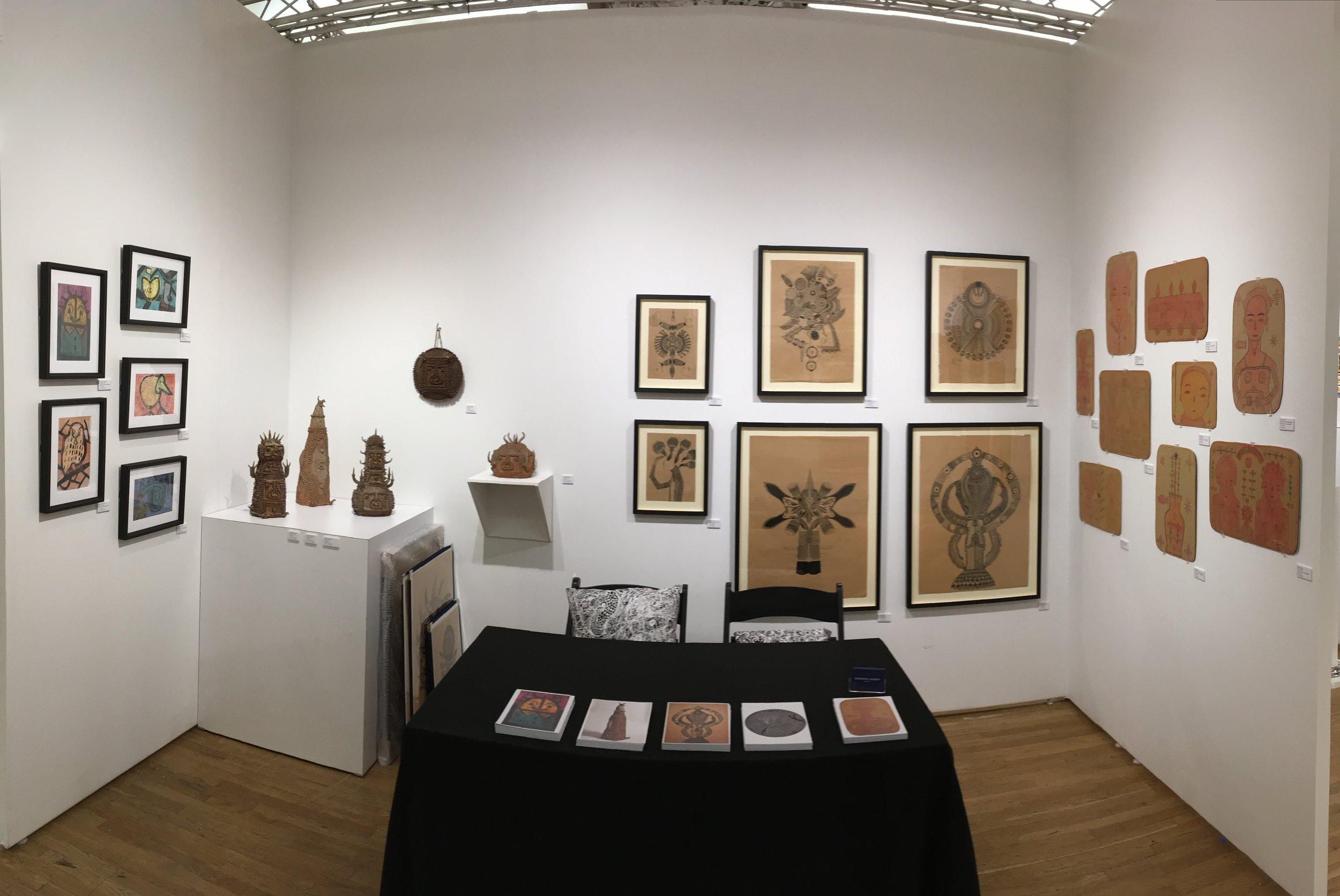 Install photo of Outsider Art Fair New York 2018