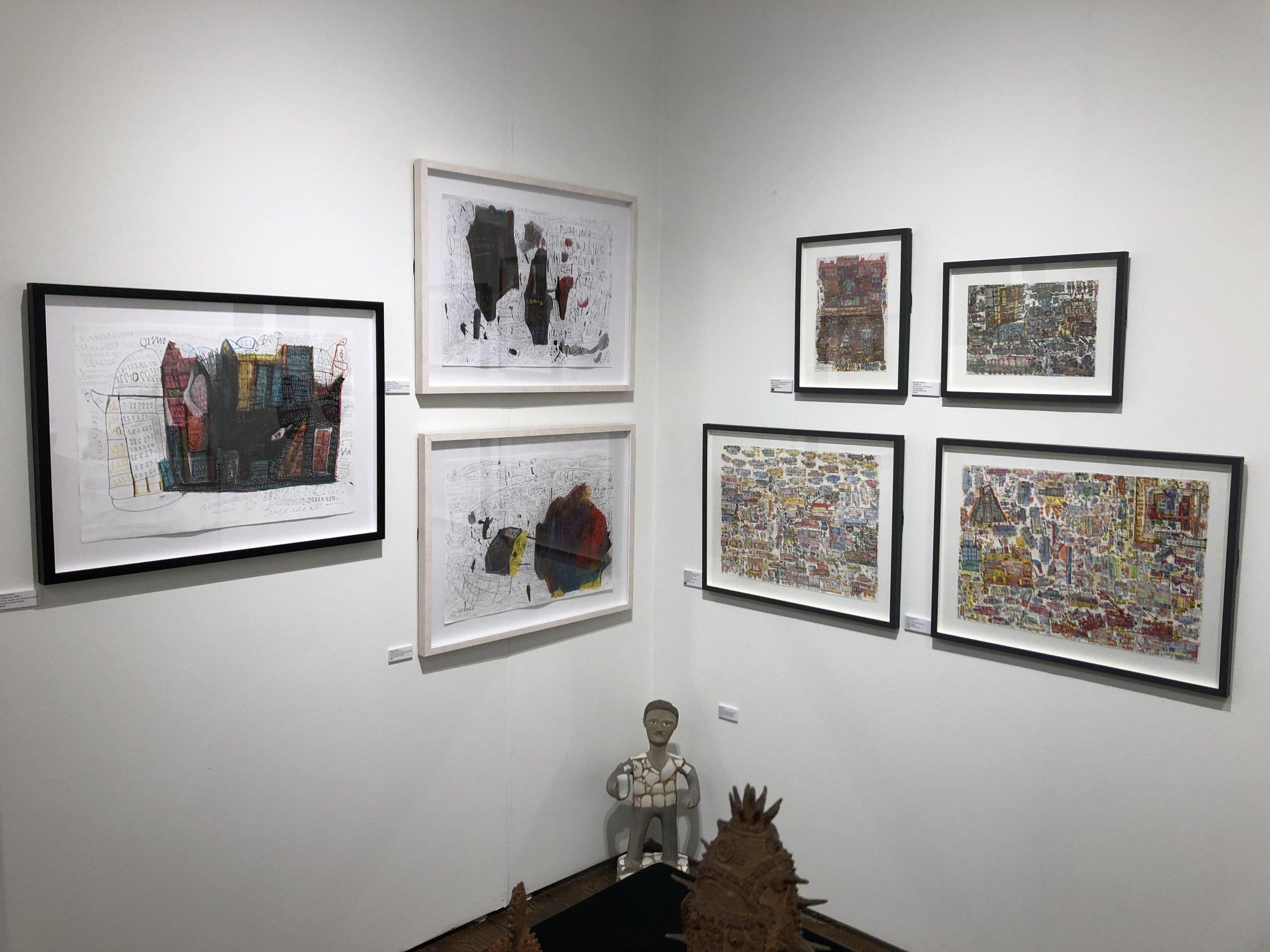 Install photo of Outsider Art Fair New York 2019