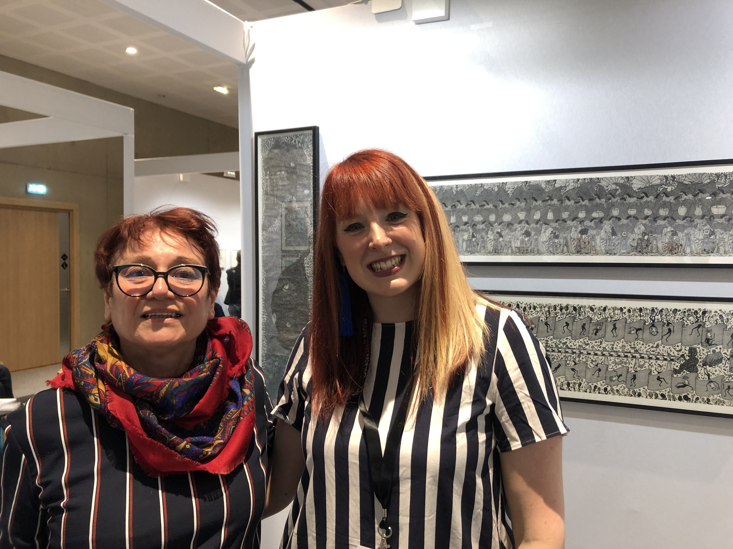 Evelyne Postic and myself at Drawing Now Paris