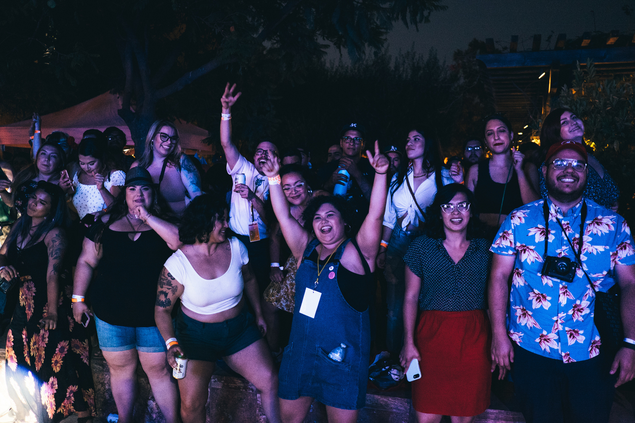 Crowd dancing at the Pond Stage of Sonido Clash Music Fest 2018. Photo by Franz Barreto.