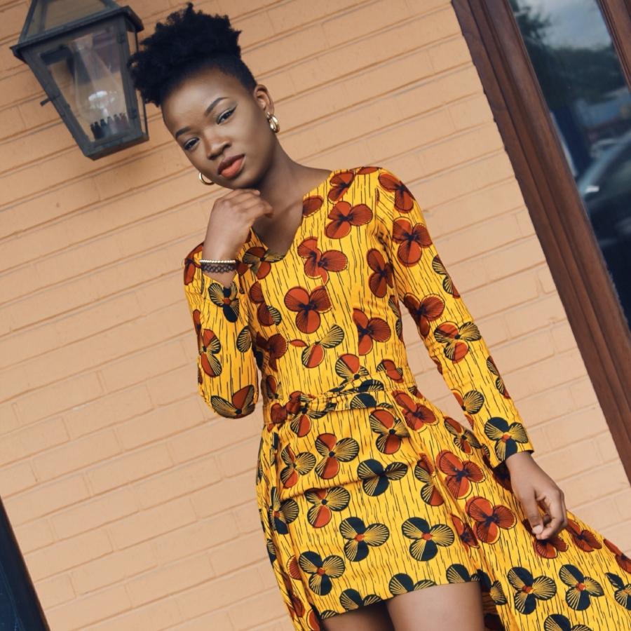 african queen ankara style dress