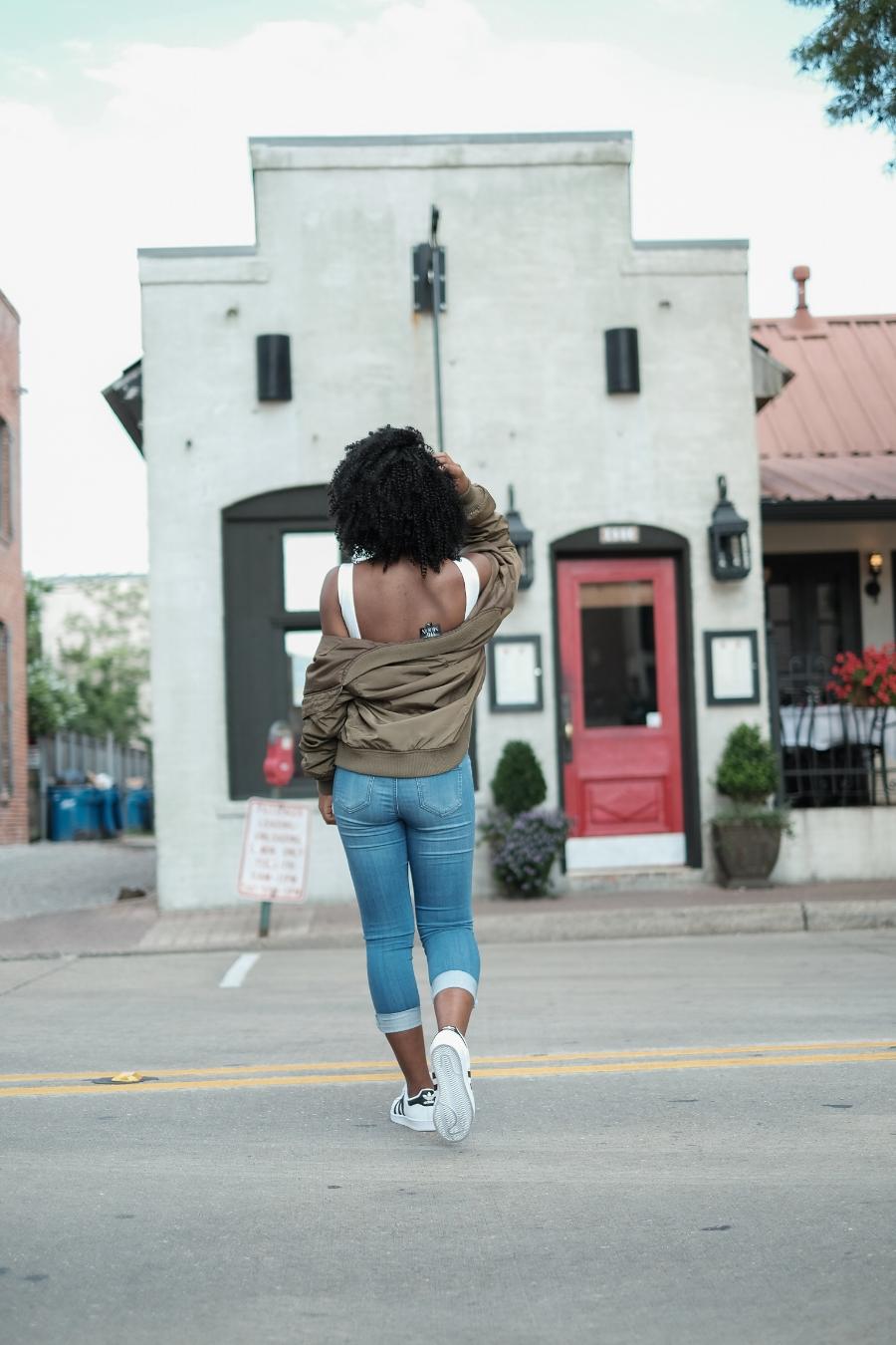 Blue jeans-White top-fashion-