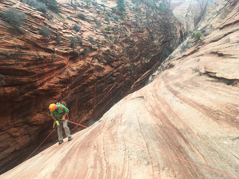 The Rappel into the canyon