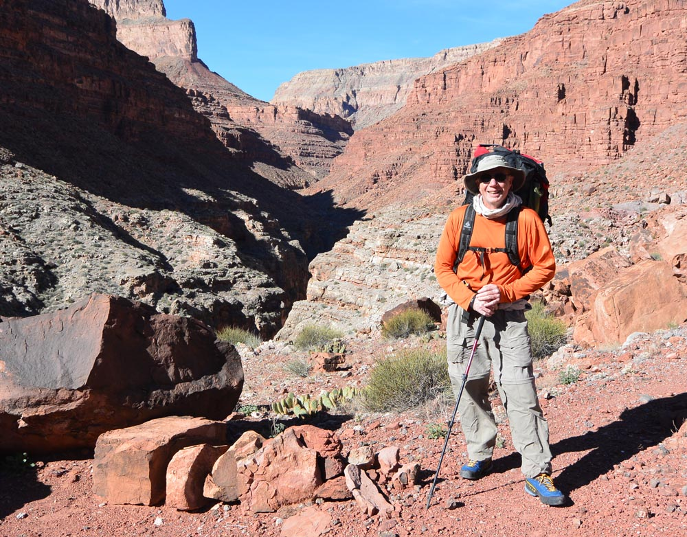 Rick with our South Canyon hike out behind him