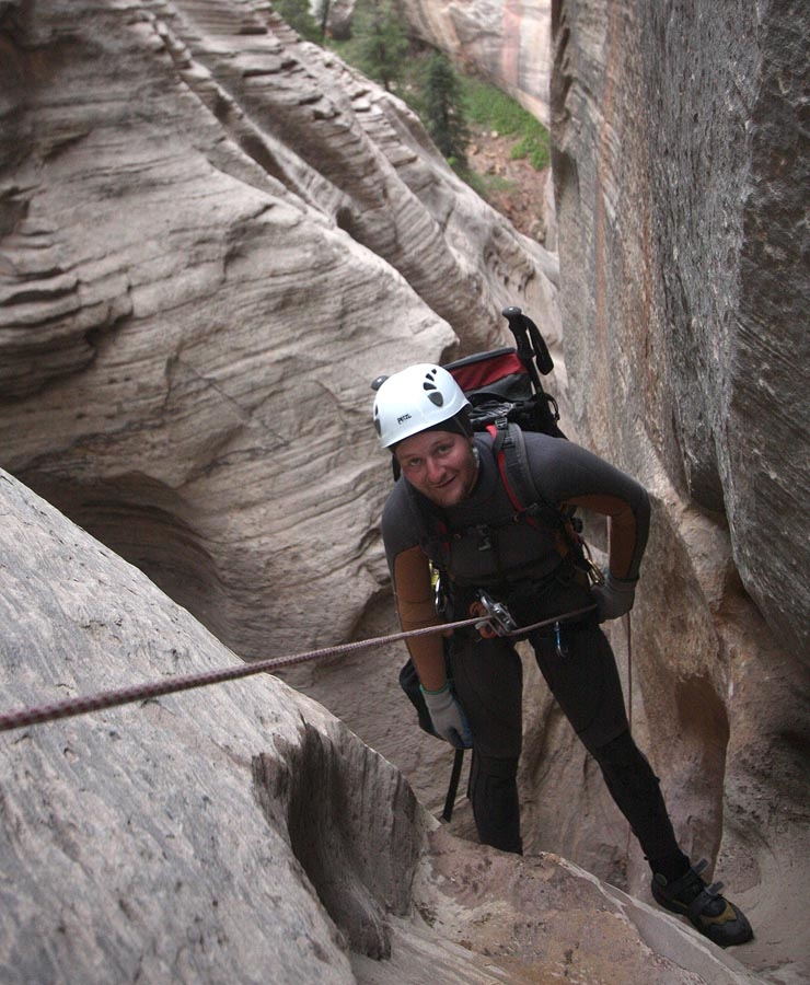 """""""Well, gentlemen? Happy with this decision?"""" Mr. Brecha on rappel. (Zion)"""