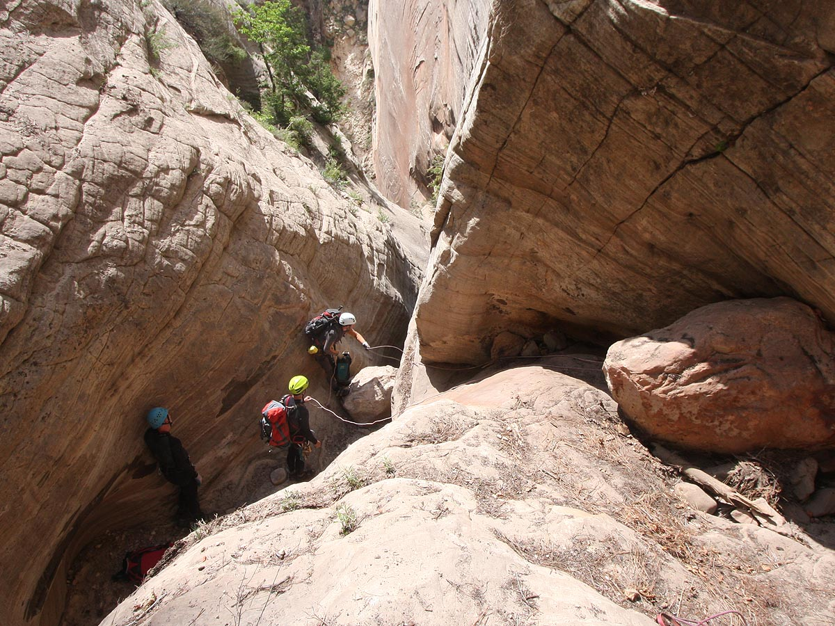 Setting up the rope for the second stage of this rap. (Zion)