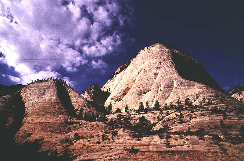 #0145 Cathedral Peak from Little Siberia (Zion)