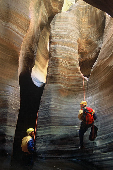 #04012 Arch rappel in Imlay (Zion)