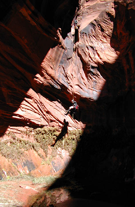 A final rappel puts us back in the land of the living.(Nasty Slot)