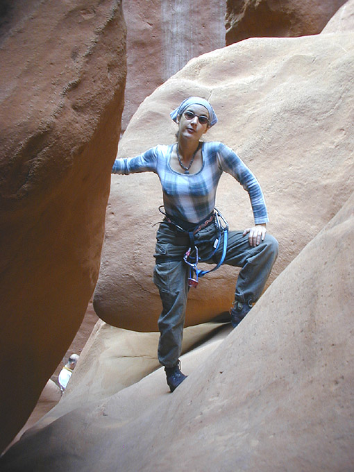 Alicia had the best time of anyone - her lilliputian size for once giving her great advantage. (Leprechaun Canyon)