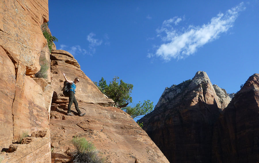 Bailey climbing Lady Mtn