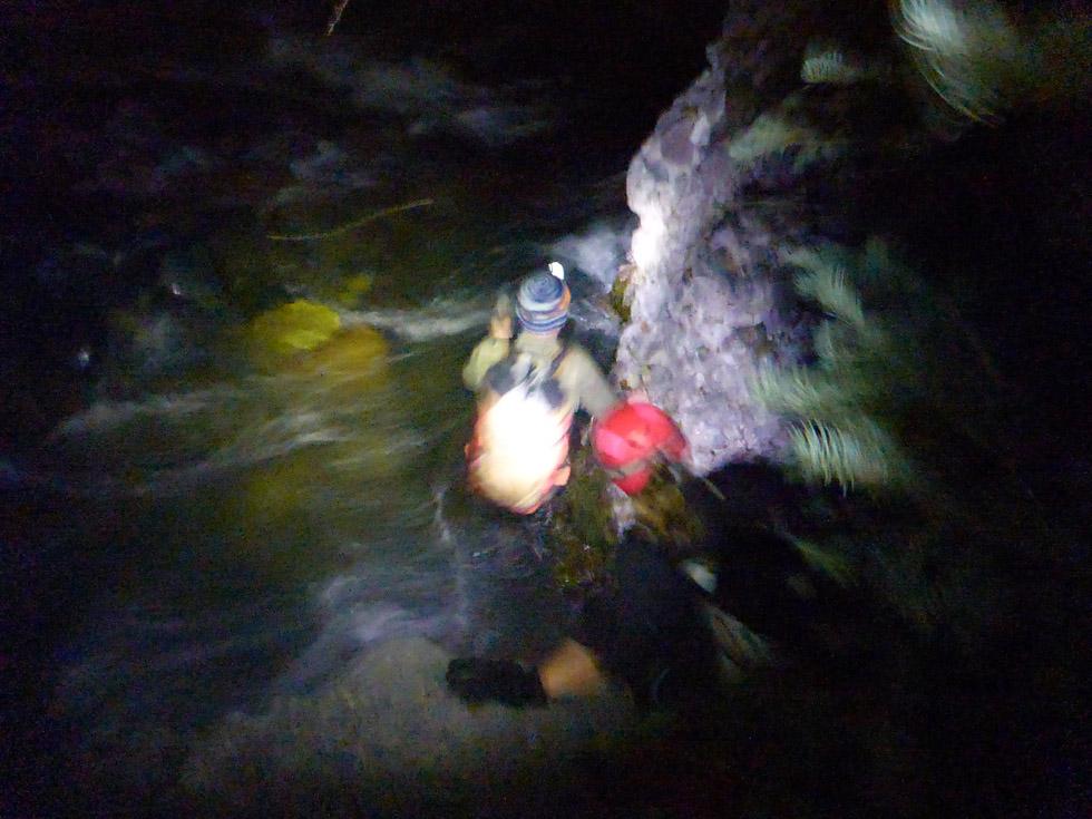 Rough Hiking in the Dark = Type 2 Fun