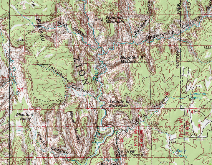 Use a map - Several options exist for maps, including my canyoneering maps, and the more detailed USGS quads.