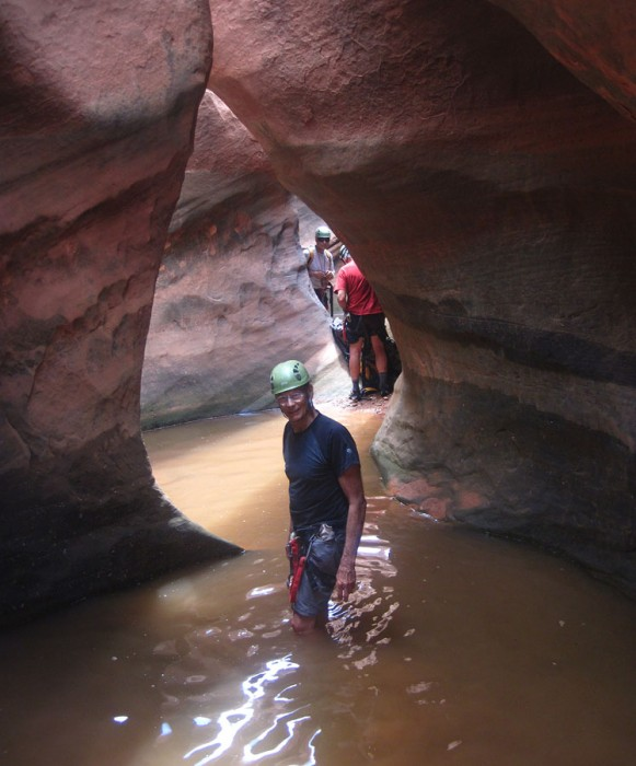 A cold Neon Canyon wading session.