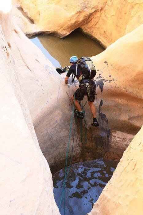 Quandary Canyon pothole escape