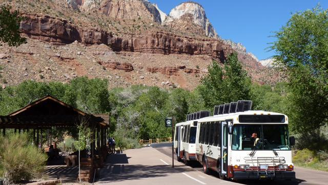 Getting around Zion NP - Public Transit in the rural desert? It's another reason why Zion really IS the promised land! The National Park and the Town of Springdale work together to offer two integrated, free, and easy-to-use shuttle bus routes serving visitors April through November.Explore shuttle options >>