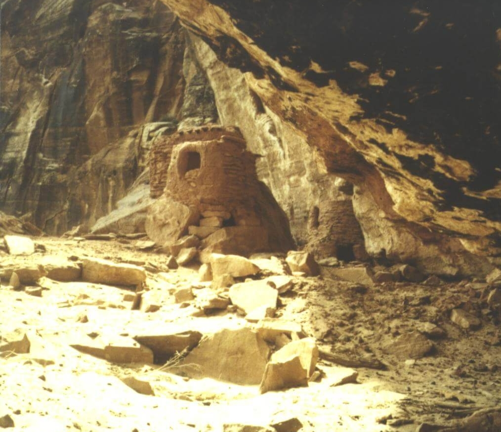 Parunuweap ruins - A prehistoric structure in Parunuweap Canyon. Image via the National Park Service.