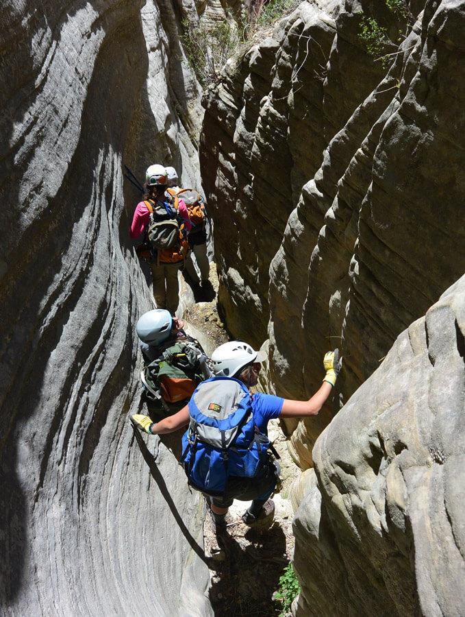 Entering the Rock Narrows