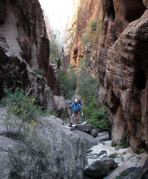 Strolling downcanyon