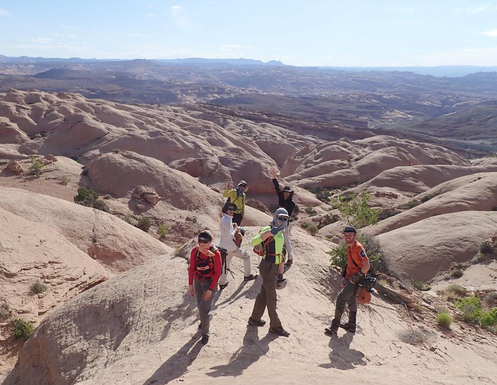 The gang, the approach terrain
