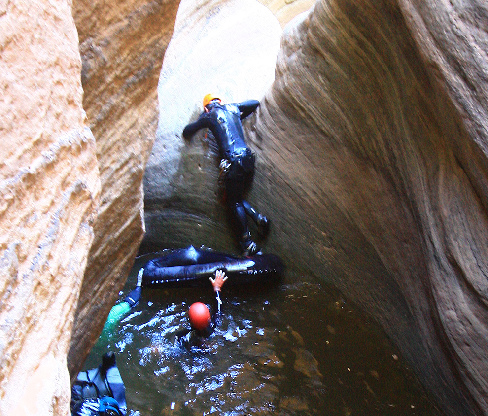 Somewhat more practical pothole escape tool, a  Supai Adventure Gear Canyon Flatwater Boat .