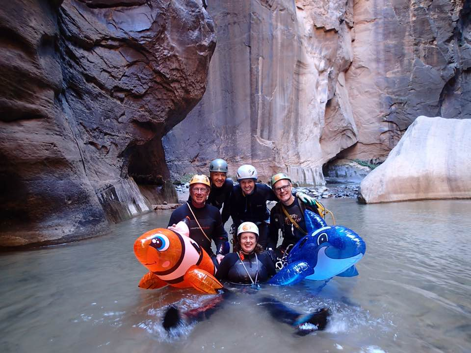 Group shot, ready to hike out the Narrows.