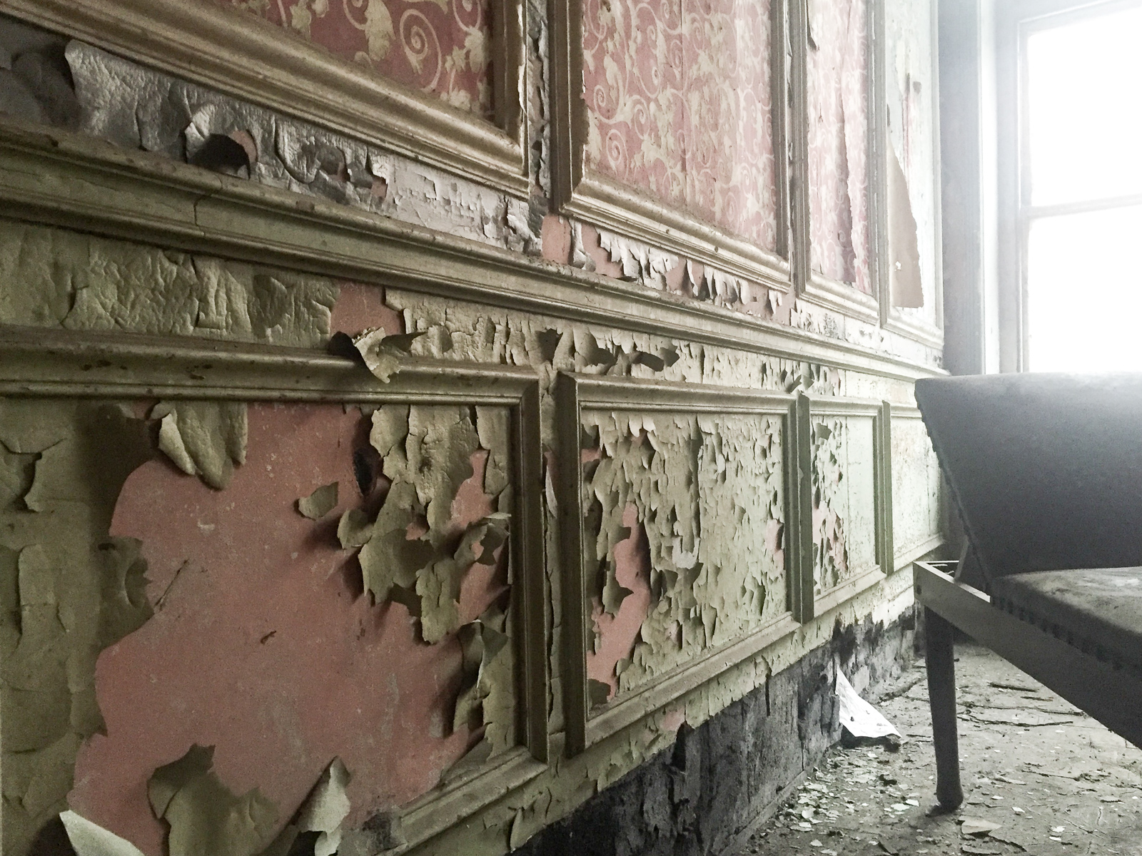 Coal Exchange, Cardiff Bay - photography from inside the abandoned building
