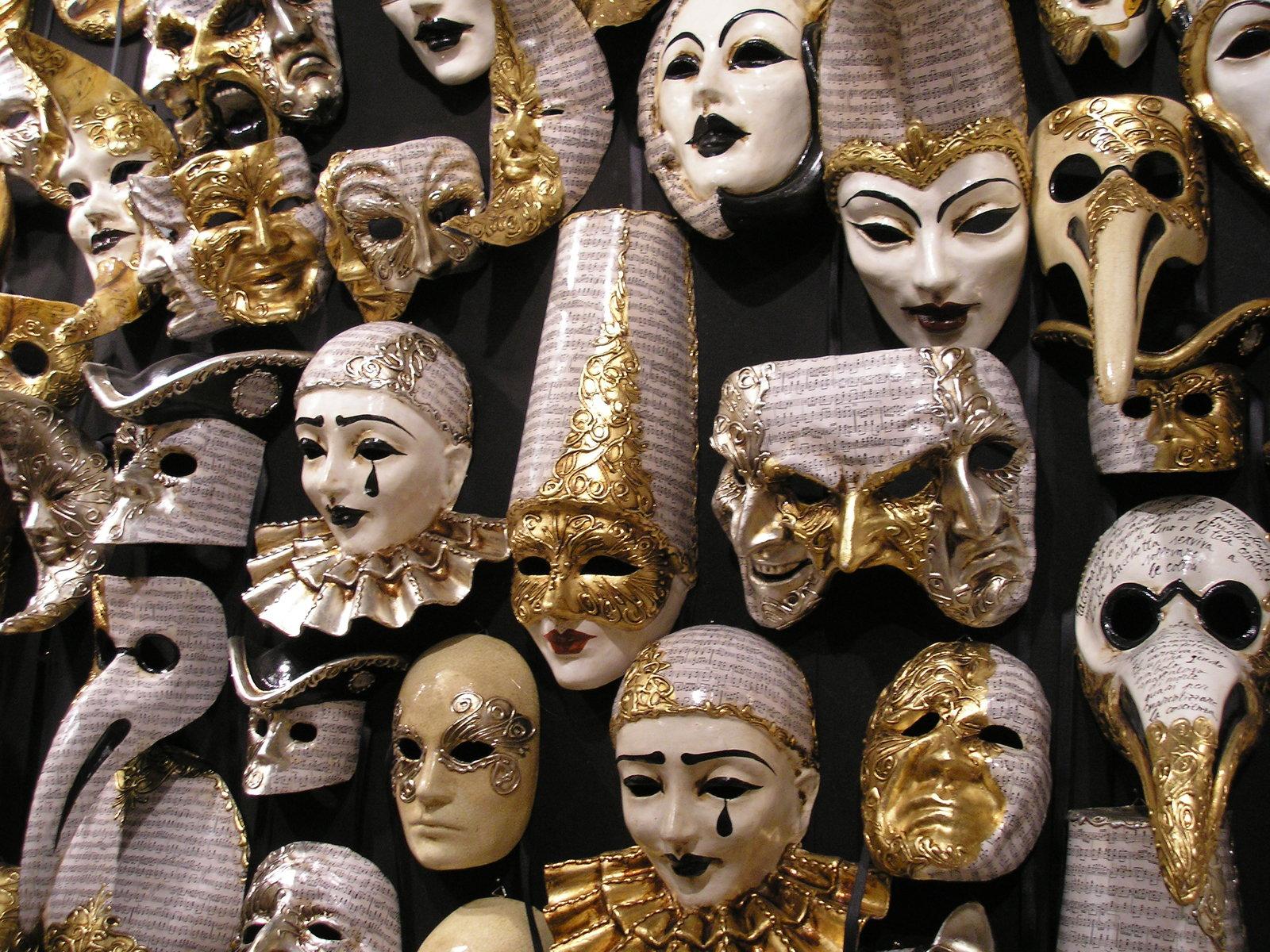 Venetian masks for Halloween costume ideas