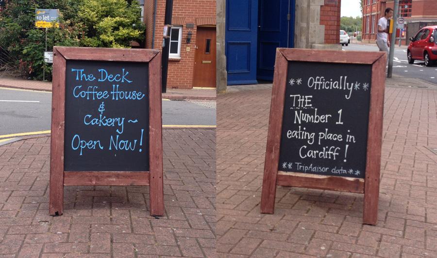 The Deck coffee shop Cardiff