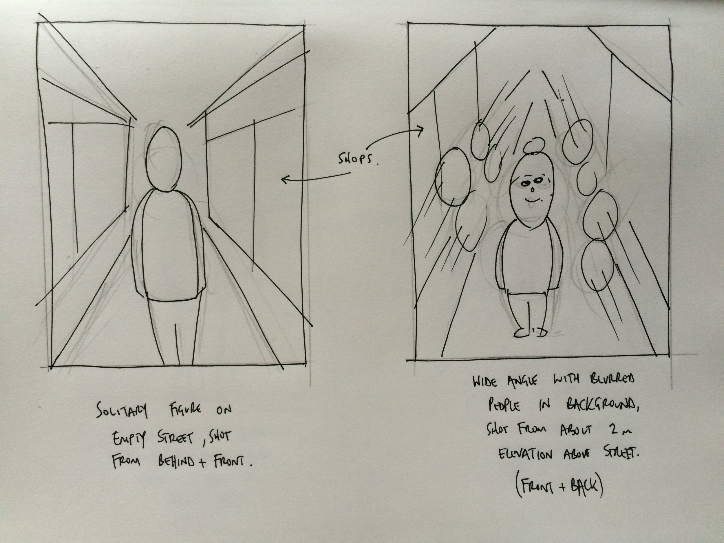 Another Iphigenia in Splott initial scamp sketch
