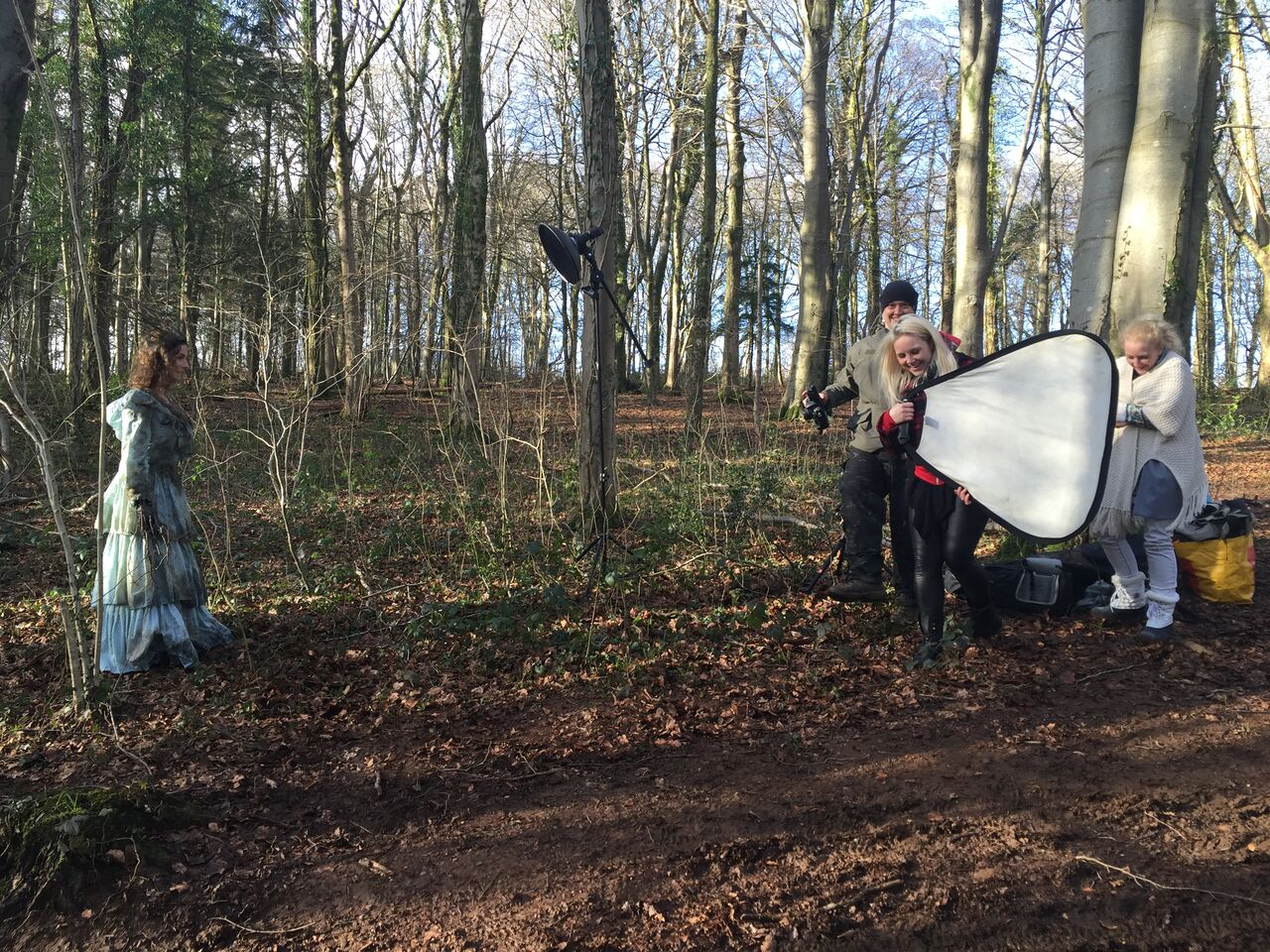 In Parenthesis photoshoot behind the scenes with cameras
