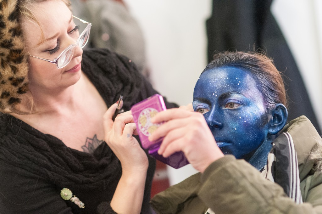 Charlotte Church space makeup - behind the scenes