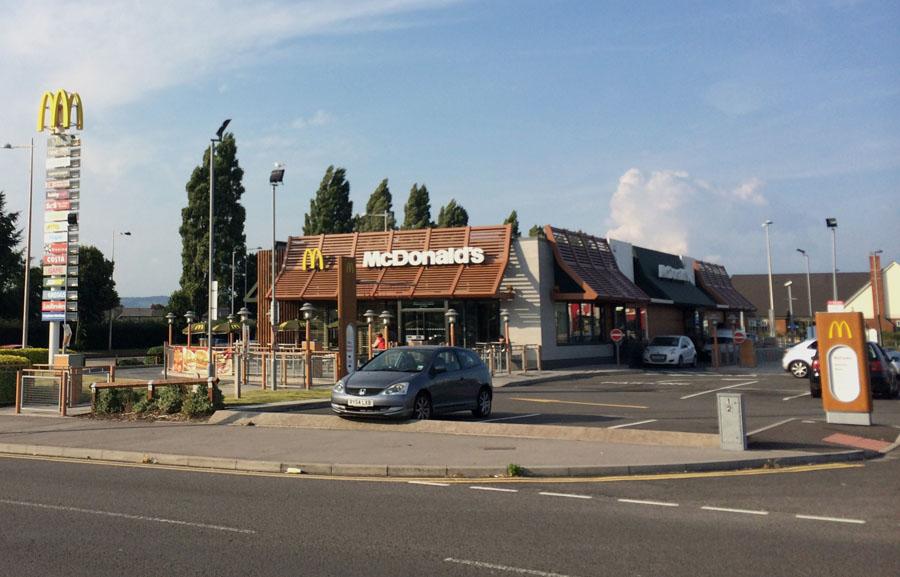 McDonald's wooden decor