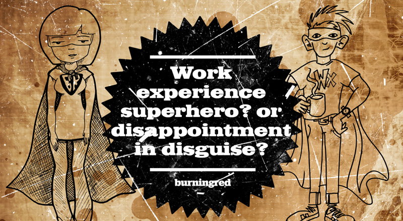 Work experience superhero? Or disappointment in disguise blog