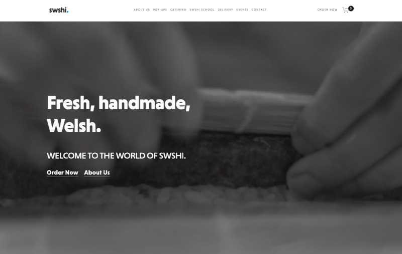 Swshi - small business website with ecommerce