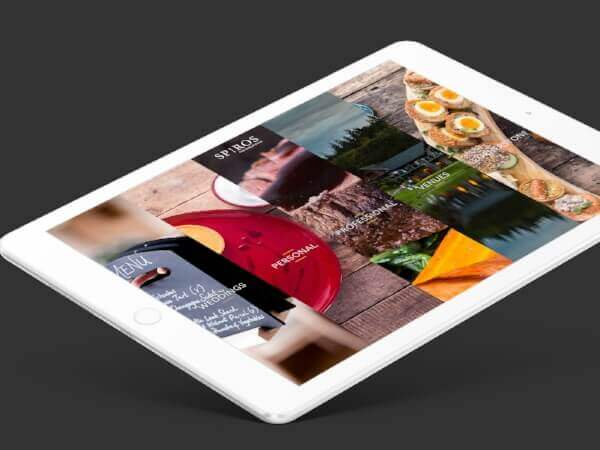 Spiros - the fine dining caterers website design and build