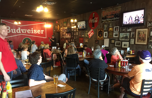 On the 159 side of things, we held our first meet and greets to view the Resistance Summer live stream on Saturday, June 3, at Manuel's on Highland Avenue,with more than 40 people in attendance.