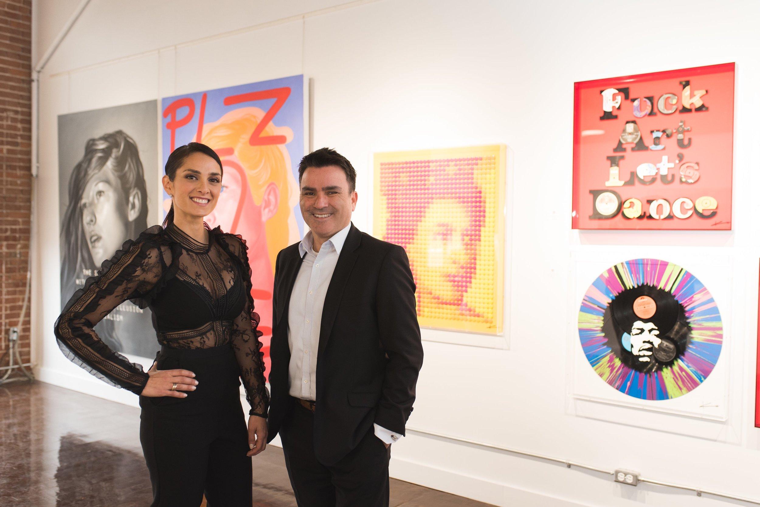 Sarah Mashaal et Andres Duran lors de l'ouverture de la galerie au printemps 2017 (photo: Christina Esteban Photography)