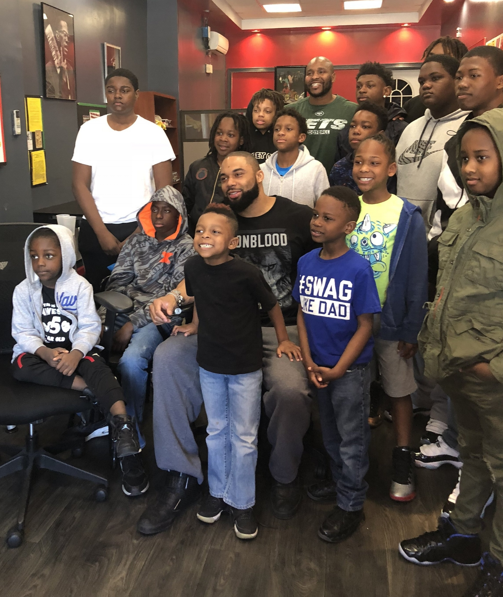 Vernon Gholston visits Jersey City youth