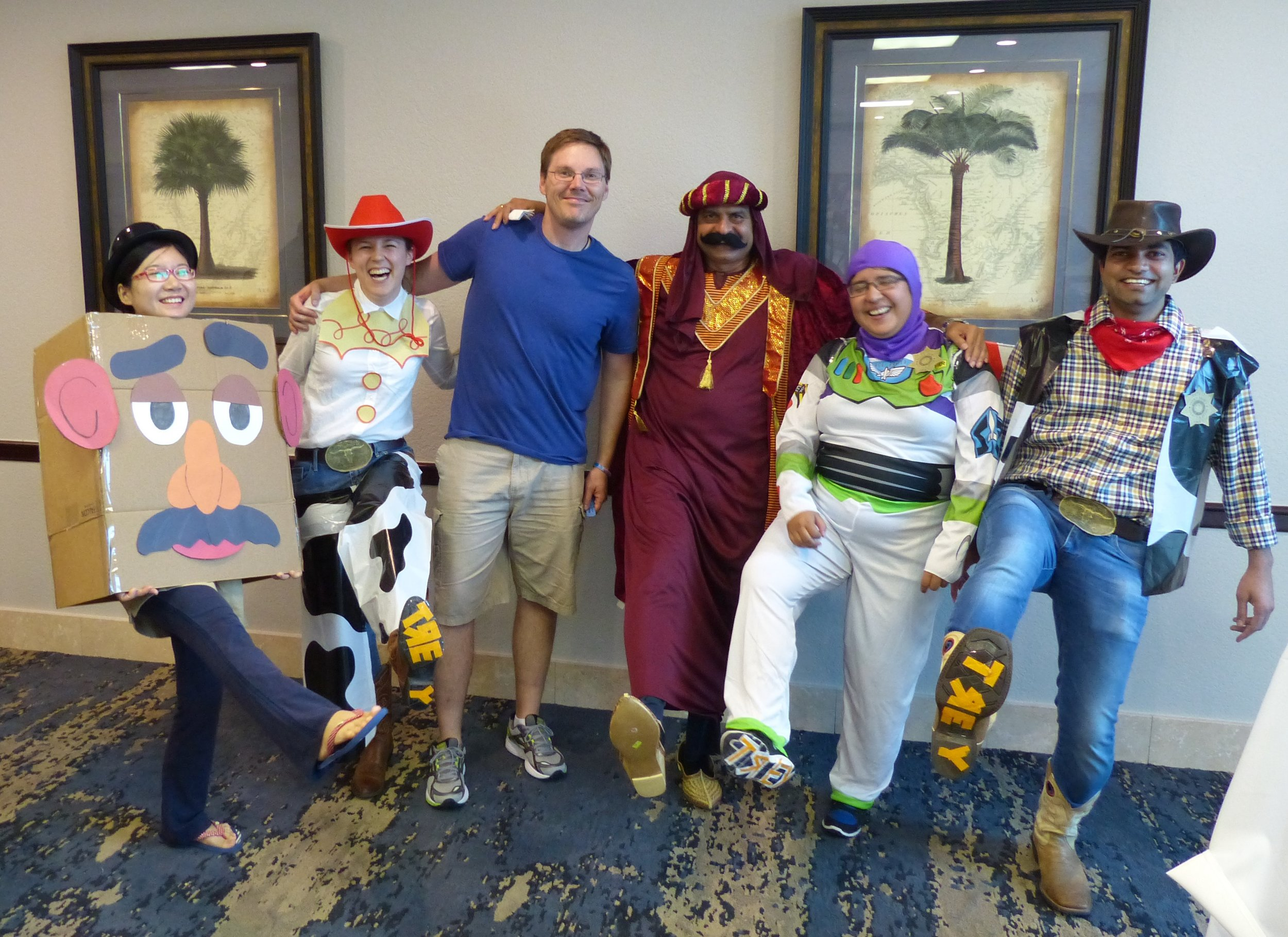 Westbrook lab members dressed up as Toy Story at the 2016 Biochemistry Retreat costume party.