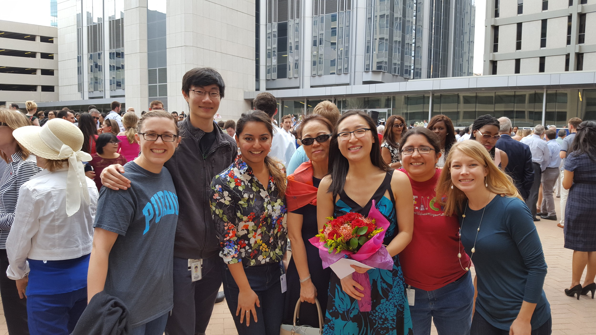 Westbrook lab members celebrating Tiffany getting matched to the Internal Medicine residency program at UPenn (2016).