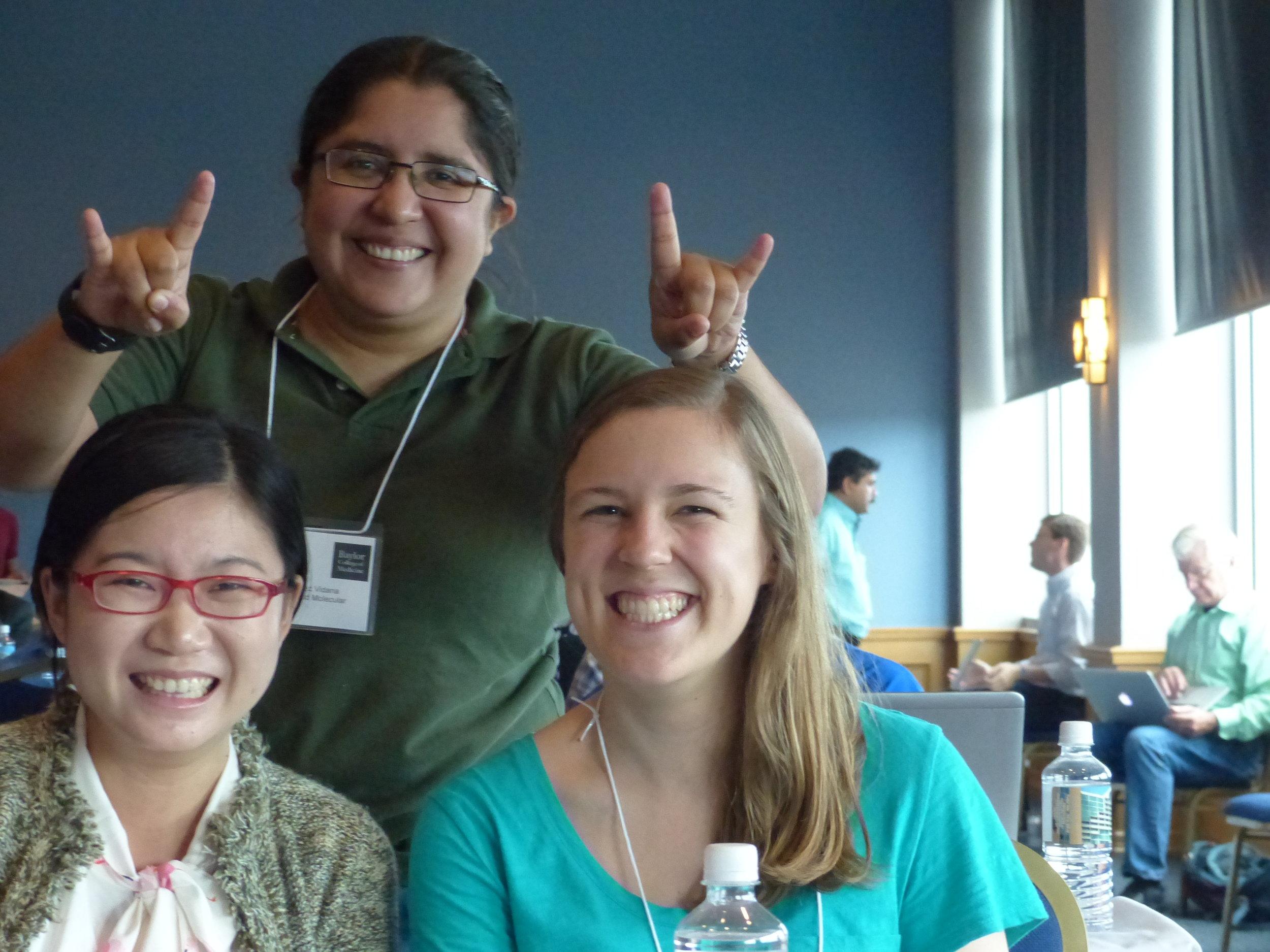 Rocio, Tingting, and Elizabeth enjoying the Biochemistry Retreat (2016).